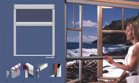 Retractable Fiberglass Window Screen Anping Denuoya