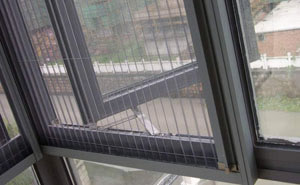 Charcoal Plisse Fiberglass Window Screen